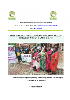 NT Rap 19 Rapport Foresterie Analogue GAGGA POLICY FORUM_CMR_March 2019